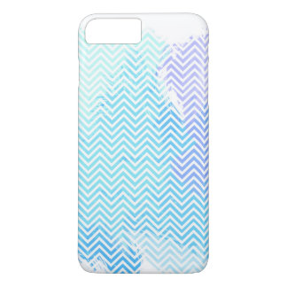 Blue Pastel Watercolor Chevron iPhone 7 PLUS Case