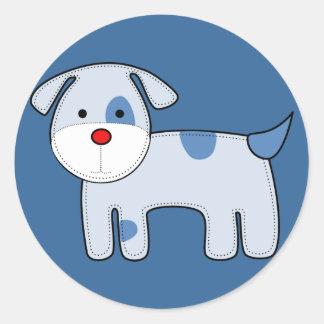 Blue Patch Puppy Sticker