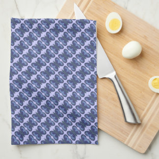 Blue Patchwork Butterfly Kitchen/Tea Towel