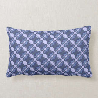 Blue Patchwork Butterfly Lumbar Pillow