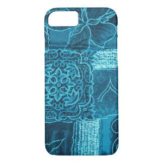 BLUE PATCHWORK iPhone 7 CASE