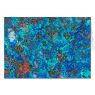 Blue patterened Shattuckite Card