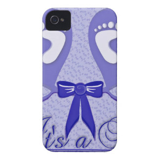 Blue Pattern Baby Shower Mother Love Peace Boy iPhone 4 Cover