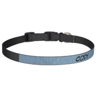 Blue Pattern Large Dog Collar