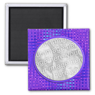 blue pattern photoframe magnet