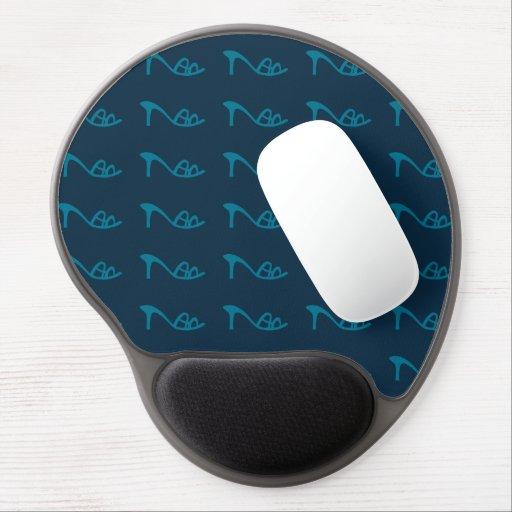 blue pattern shoes gel mousepad