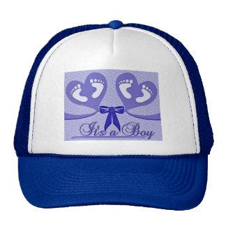 Blue Pattern Shower Mother Love Peace Boy Cap