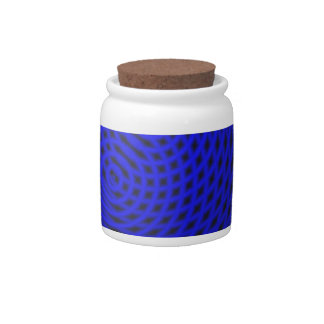Blue Pattern Candy Jars