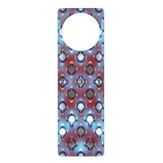 Blue Pattern with Numbers Door Hangers