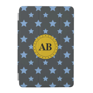 Blue pattern with stars iPad mini cover