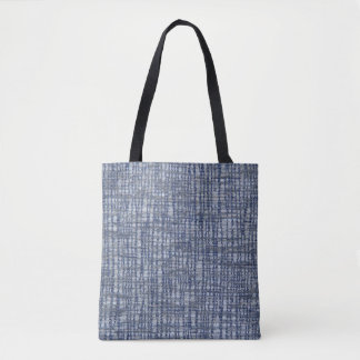 Blue pattern with textile texture tote bag