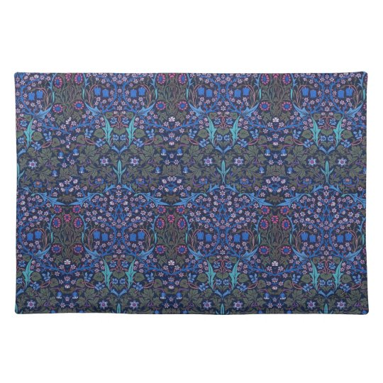 Blue Patterned William Morris Art Nouveau Placemat