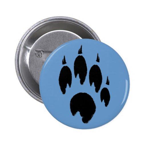Blue Paw Button