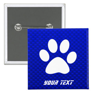 Blue Paw Print 15 Cm Square Badge