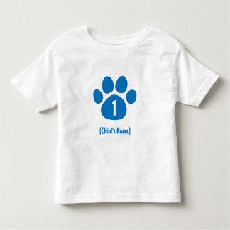 Blue Paw Print Birthday Toddler T-Shirt