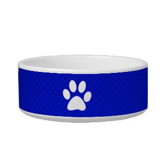 Blue Paw Print Bowl