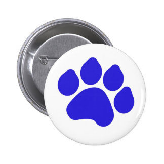 Blue Paw Print Button