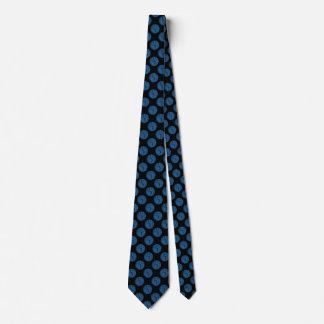Blue Paw Print Dot Tie