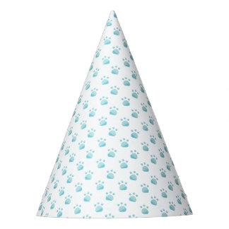 Blue Paw Prints Pattern Party Hat