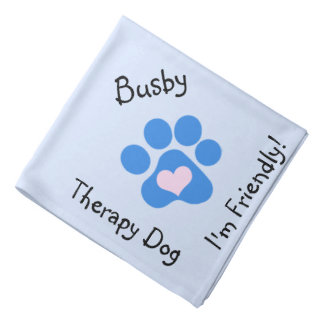 Blue Paw Therapy Dog Neckerchief Bandana