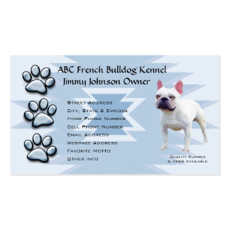 Blue Pawprint Indian for French Bulldog Owners Pack Of Standard Business Cards