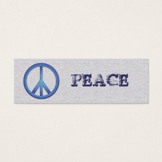 Blue Peace Bookmarks Mini Business Card