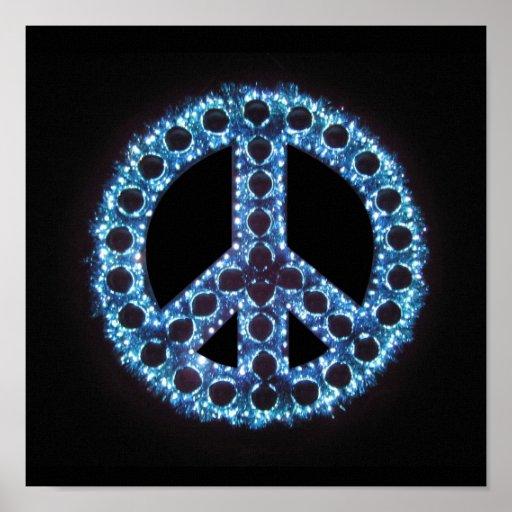 blue peace canvas print