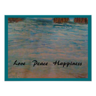 Blue Peace Poster