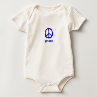 blue peace sign baby bodysuit