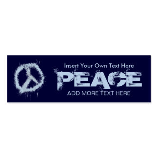 Blue Peace Sign Bookmark Pack Of Skinny Business Cards