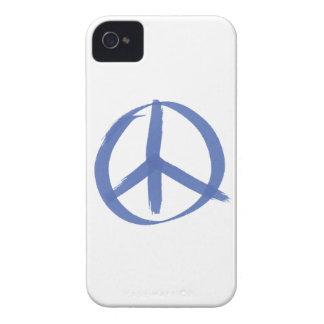 Blue Peace Sign Case-Mate iPhone 4 Case