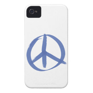 Blue Peace Sign iPhone 4 Case-Mate Cases
