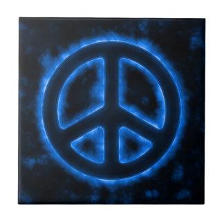 Blue Peace Sign Tile