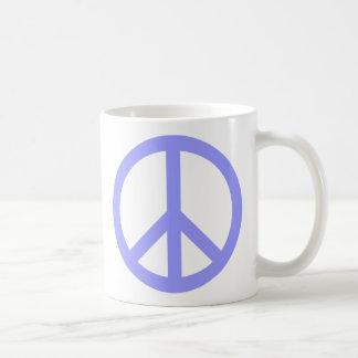 Blue Peace Symbol Coffee Mug