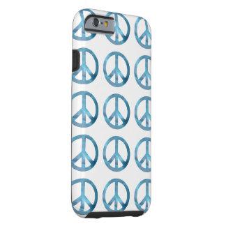 BLUE PEACE SYMBOLS iPhone 6 Case