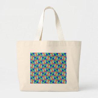 Blue-Peach-Lime Tote Bag