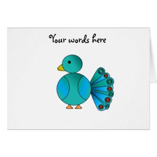Blue peacock card
