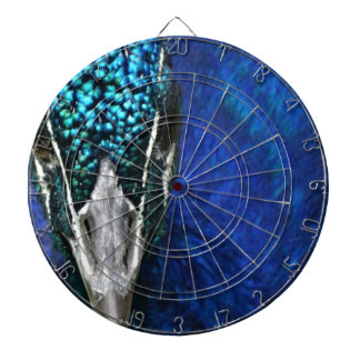 blue peacock dartboard