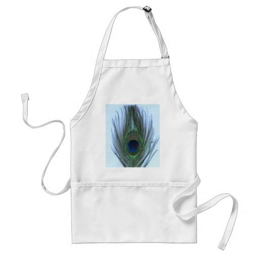 Blue Peacock Feather Apron