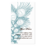 Blue Peacock Feather Double-Sided Standard Business Cards (Pack Of 100)