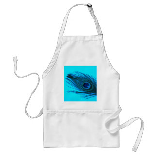 Blue Peacock Feather Standard Apron