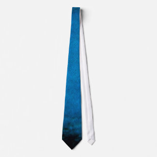 Blue peacock feathers tie