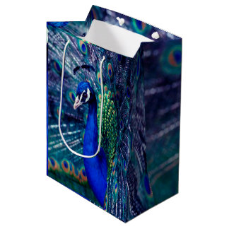 Blue Peacock Medium Gift Bag