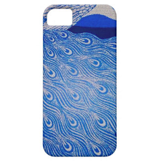 Blue Peacock Mosaic Barely There iPhone 5 Case