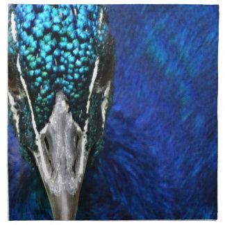 blue peacock napkin