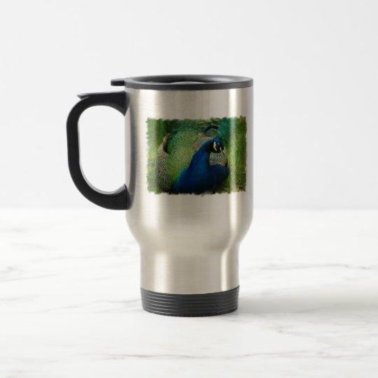 Blue Peacock Travel Mug