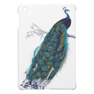 Blue Peacock with beautiful tail feathers Cover For The iPad Mini