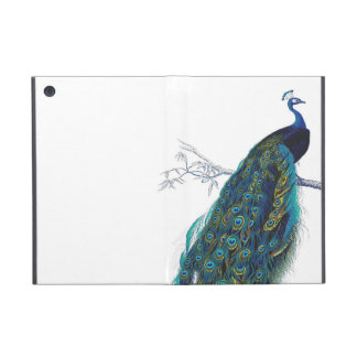 Blue Peacock with beautiful tail feathers Covers For iPad Mini