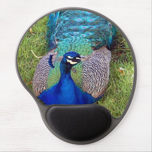 Blue Peafowl Gel Mousepad