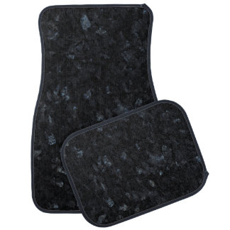 Blue Pearl Stone Pattern Background Floor Mat